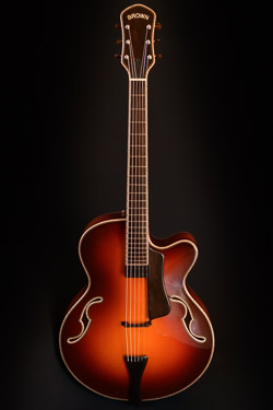 tad r brown dark cherry archtop