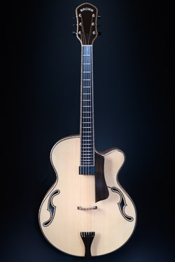 tad r brown natural archtop