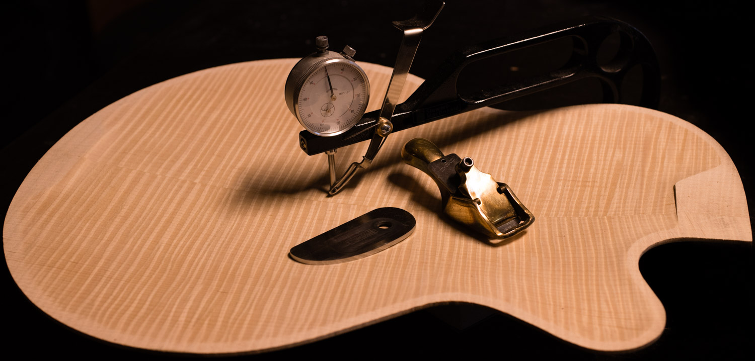 hand carved maple guitar archback
